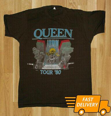 QUEEN FREDDIE MERCURY 1980 Rock Band Concert Tour T-Shirt Men Women Tee S-3XL