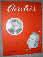 1939 CARELESS Vintage Sheet Music RUSS MORGAN by Quadling, Howard, Jurgens