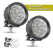 35 Round Led Spot Light Pods Work Flood Driving Fog Lamp Offroad 4wd Truck 12v