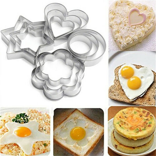 12X Edelstahl Cookie Fondant Kuchen Keks Form Mold Sugarcraft Cutter Lo