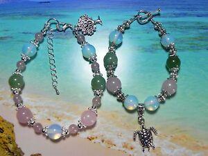 Image Is Loading Handmade Aventurine Rose Quartz Amp Moonstone Gemstone Love