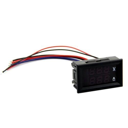 DC 100V 10A Voltmeter Amperemeter Rot LED Panel Amp Dual Digital Volt Meter M 1F
