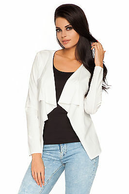 Chic Fashionable Blazer Waterfall Style Long Sleeve  One Size 8-12 FT1024