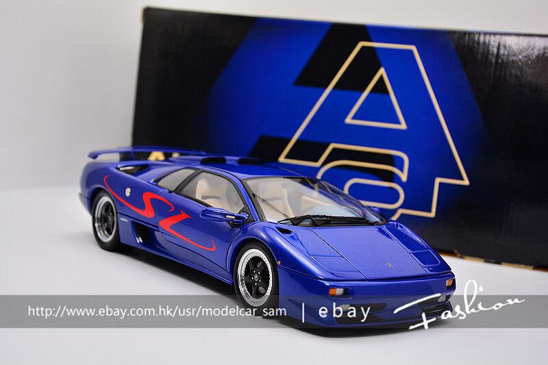Auto - oart 1  18 Lamborghini negro destructor SV azul