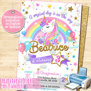 image relating to Printable Unicorn Invitations known as Facts over Printable Unicorn Birthday Celebration invitation