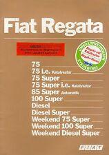 Fiat Regata Prospekt 12/85 brochure 1985 Auto PKW Broschüre Italien Autoprospekt