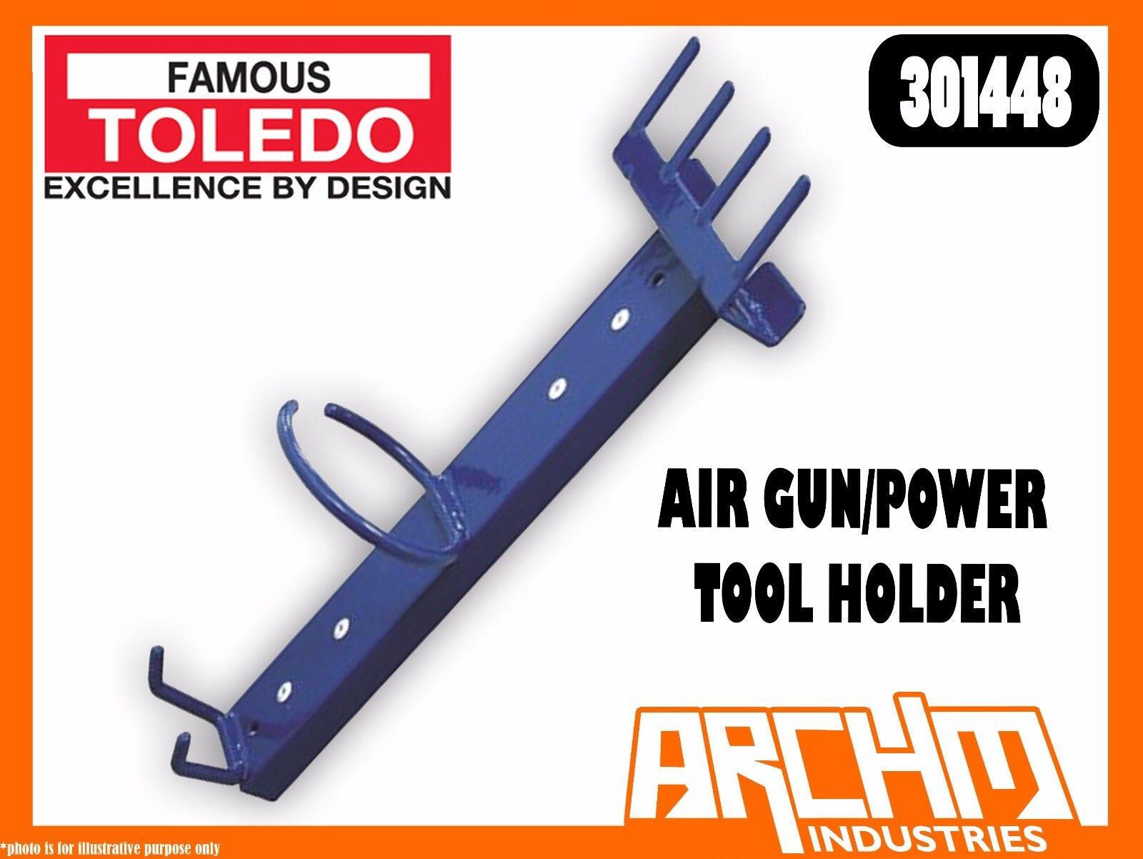 TOLEDO 301448 - AIR GUN POWER TOOL HOLDER - STEEL PVC DIPPED FRAME MAGNETIC