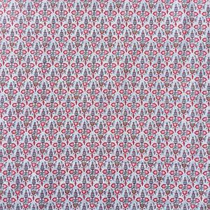 Cotton-Quilting-Craft-Sewing-Fabric-Symbolic-Flower-Spot-Birds-Grey-Pink