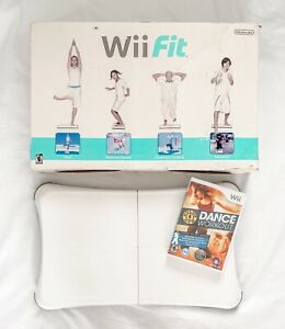 Nintendo Wii Fit Balance Board Bundle w/ NEW Gold's Gym Dance Workout Game WORKS