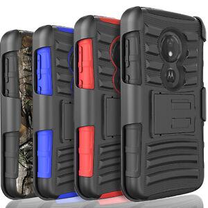 For Motorola Moto G7 Power Plus Supra Optimo Maxx Case+Tempered Glass Protector