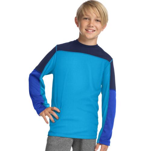2 Hanes Sport™ Boys/' Long Sleeve Pieced Tech Tee Shirts OD256