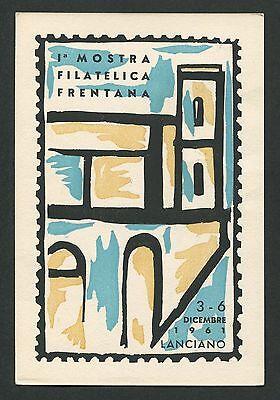 100% Wahr Italien Mostra Filatelica Lanciano 1961 Cartolina Ausstellung Sonderkarte C9447