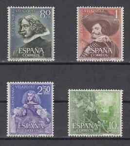 ESPANA-1961-NUEVOS-SIN-FIJASELLOS-MNH-SPAIN-EDIFIL-1340-43-VELAZQUEZ