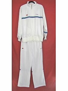 NWT Ellesse Microfeel Tennis Apparel Suit in White - sz M Classic ... 7128a148ee