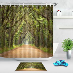 72X72/'/' Italy Town Path Fabric Waterproof Bathroom Shower Curtain 12 Hook WG260