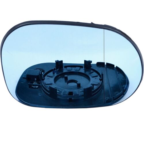 Right for Mercedes M Class 1998-2001 Wide Angle heat Blue wing door mirror glass
