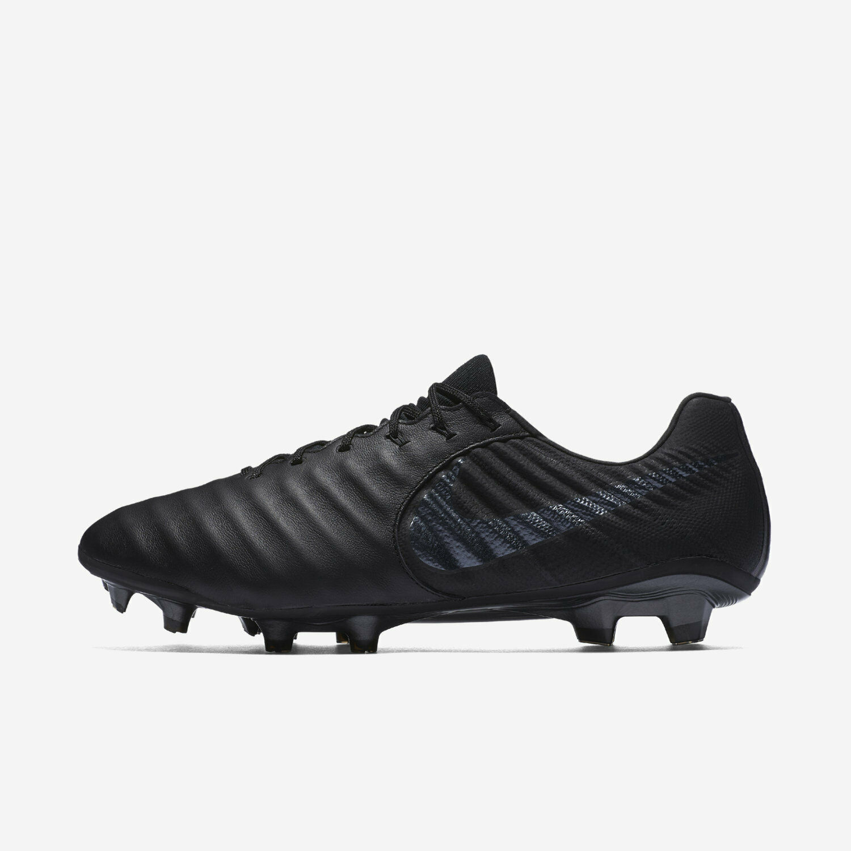 Nike Tiempo Legend 7 Elite Calfskin FG Men's Size 7 Black Cleats AV1906-001