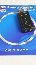 SCHEDA AUDIO 7.1 ESTERNA CANALI USB ADATTATORE MICROFONO CUFFIE NOTEBOOK MUSICA