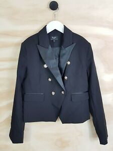 Size-10-BARDOT-Junior-Girls-Black-Blazer-Jacket