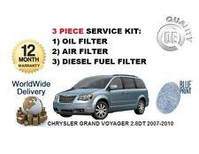 Para Chrysler Grand Voyager 2.8 Dt 2007-2010 Kit De Servicio Aceite Aire Filtro De Combustible Kit