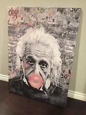 Original CRISP Albert Einstein Canvas Money Bazooka Street Pop art Kaws Banksy