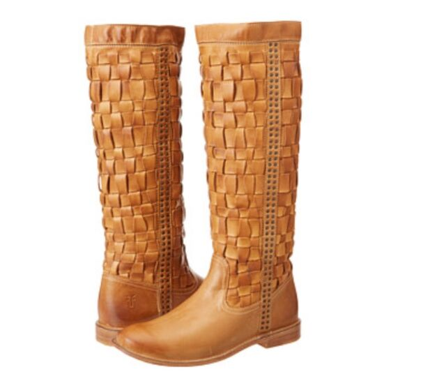 5a11bfe510a6 Frye Paige Woven Camel Leather BOOTS Womens 8.5 for sale online