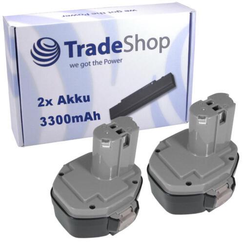 2x Batterie 14,4v 3300mah ni-mh pour Makita 6336 DWBE 6336 DWDE 6336 DWFE 6337d 6228d