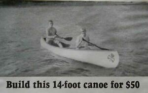 14' Canoe Simple Plywood & Canvas How-To build PLANS