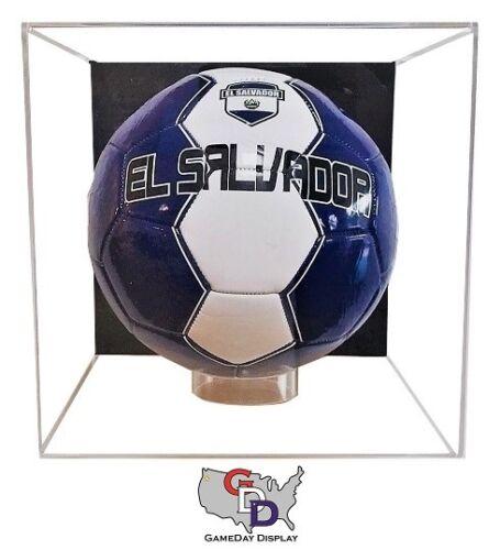 Acrylic Full Size Soccer Ball Display Case Wall Mount Cube MLS FIFA UEFA