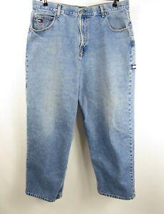 Vintage Para Hombres Tommy Hilfiger Carpintero Pantalones Vaqueros Holgados Loose Fit 39 X 29 Ebay