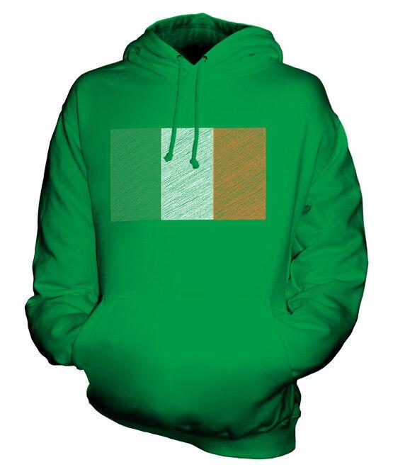 IRELAND SCRIBBLE FLAG UNISEX HOODIE TOP GIFT ÉIRE IRISH