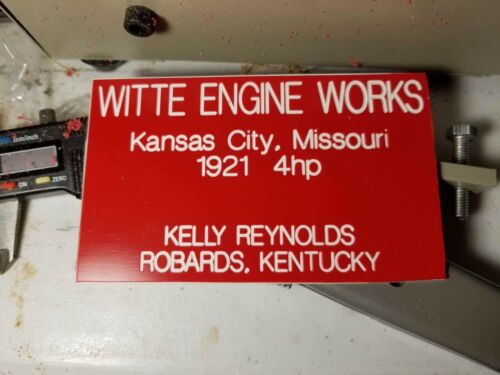 Custom Sign Plate hit n miss Engines