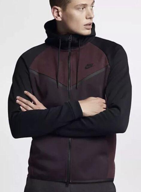 Nike Tech Fleece Windrunner Hoodie Jacket Port Wine Burgundy Large 885904 652