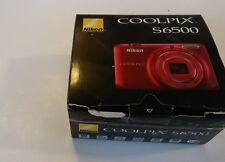 Nikon COOLPIX S6500 16.0MP Digital Camera - Red