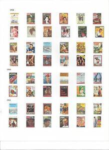 48 Magazines from 1958-1961 -1/18 Scale - Diorama