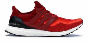 sports shoes 55a6f 66210 Image is loading ADIDAS-ULTRA-BOOST-2-0-SOLAR-RED-POWER-