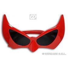 Red Demon Devil Halloween Sunglasses Glasses Fancy Dress Super Hero Prop