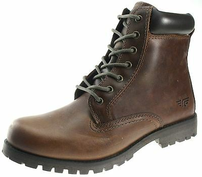 Mens Red Tape Marsland Tan brown smooth leather lace up high ankle boots