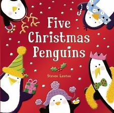 Five Christmas Penguins Book Ages 3 + Shiny Foil Holiday Scholastic Counting FUN