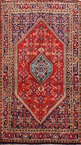 Vegetable-Dye-Bidjar-Geometric-Traditional-Area-Rug-Wool-Hand-knotted-4x6-Carpet