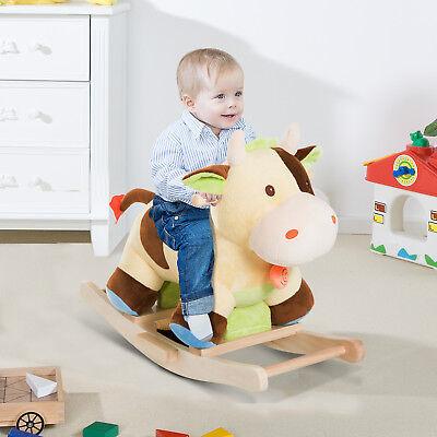 Kinder Schaukel Spielzeug Baby Schaukeltier Schaukelpferd Schaukel Kuh Cow Braun