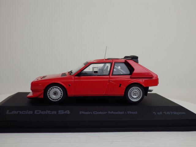 Lancia Delta S4 Plain Color Model  Red  1:43 hpi-racing NEW