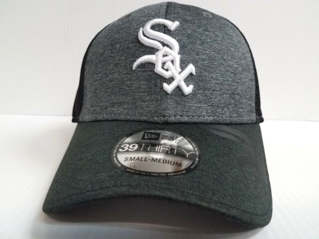 66414418580980 Chicago White Sox Cap New Era 39Thirty Stretch Fit Shadow Gleam Hat MLB