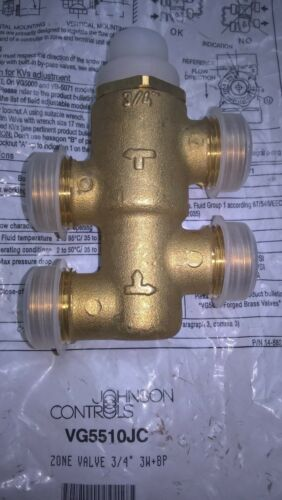 JOHNSON CONTROLS VG5510JC Terminal Unit Valve 3-way Mixing//Diverting with Bypass