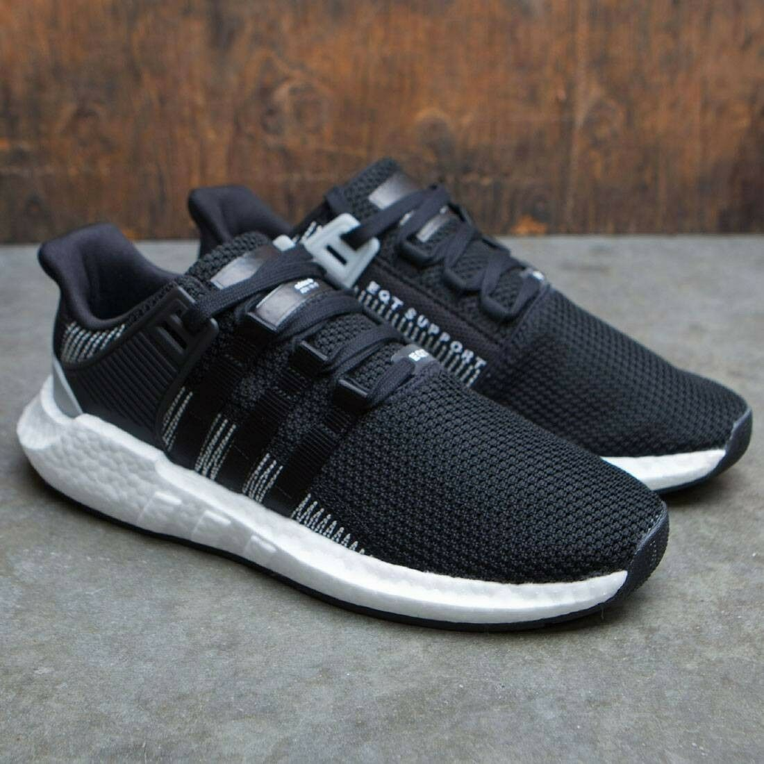 New Adidas EQT Support 93/17 Boost Core Black White BY9509 Size 12