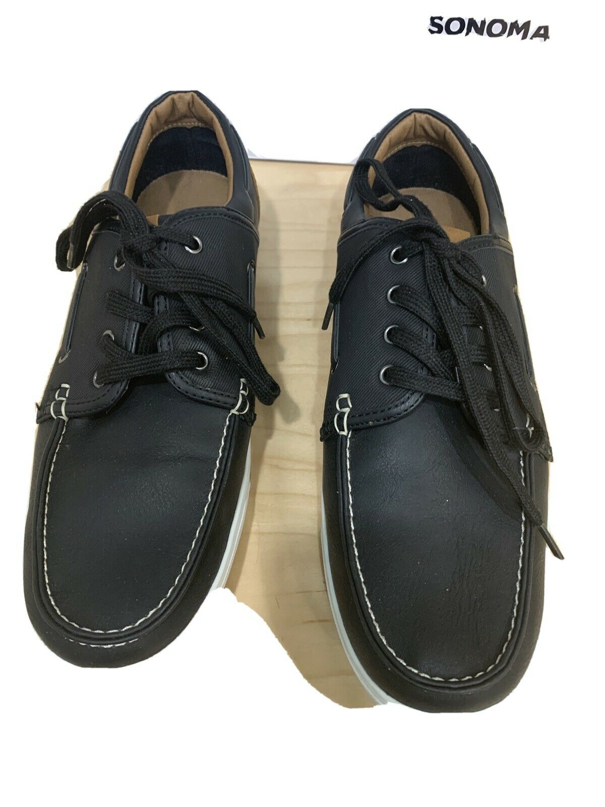 Sonoma Snroyceblack Sockless Style Men's Casual Wear Shoes Size 10 Lightly used