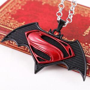 Punk-Hip-Hop-Batman-vs-Superman-Dawn-of-Justice-Necklace-Pendant-Chain-Jewelry