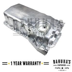 SEAT VW SKODA ENGINE OIL SUMP PAN ALUMINIUM WITH BORE /& BACKFLOW BRAND NEW