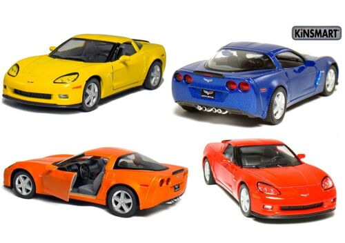 5 Kinsmart 2007 Chevrolet Corvette Z06 Diecast Model Toy Car 1:36 Chevy 4PC SET