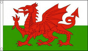 HUGE 8ft x 5ft Wales Flag Massive Giant Welsh Red Dragon St Davids Day Flags